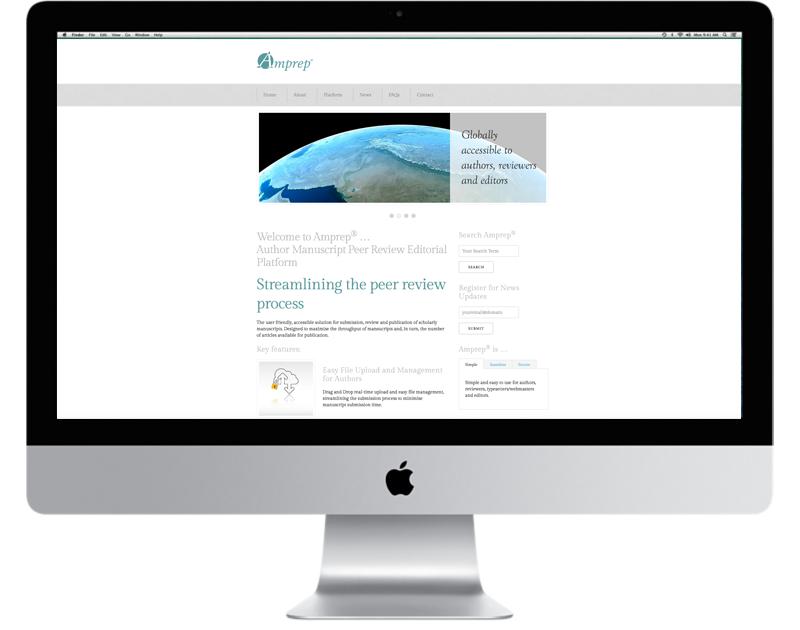 CHP Design Agency, Branding and Website for Amprep - Author manuscript Peer Review Platform