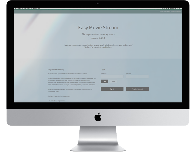 CHP Design Agency Branding and Website for easy movie stream