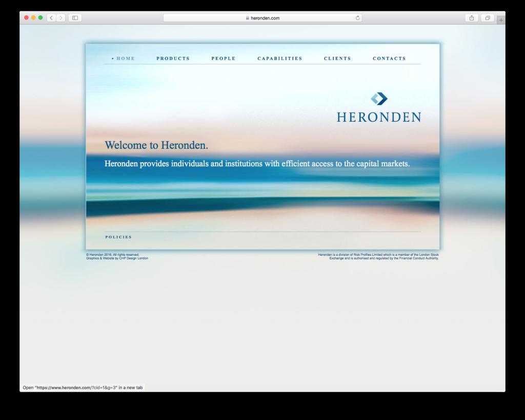 CHP Graphic Design branding for Heronden