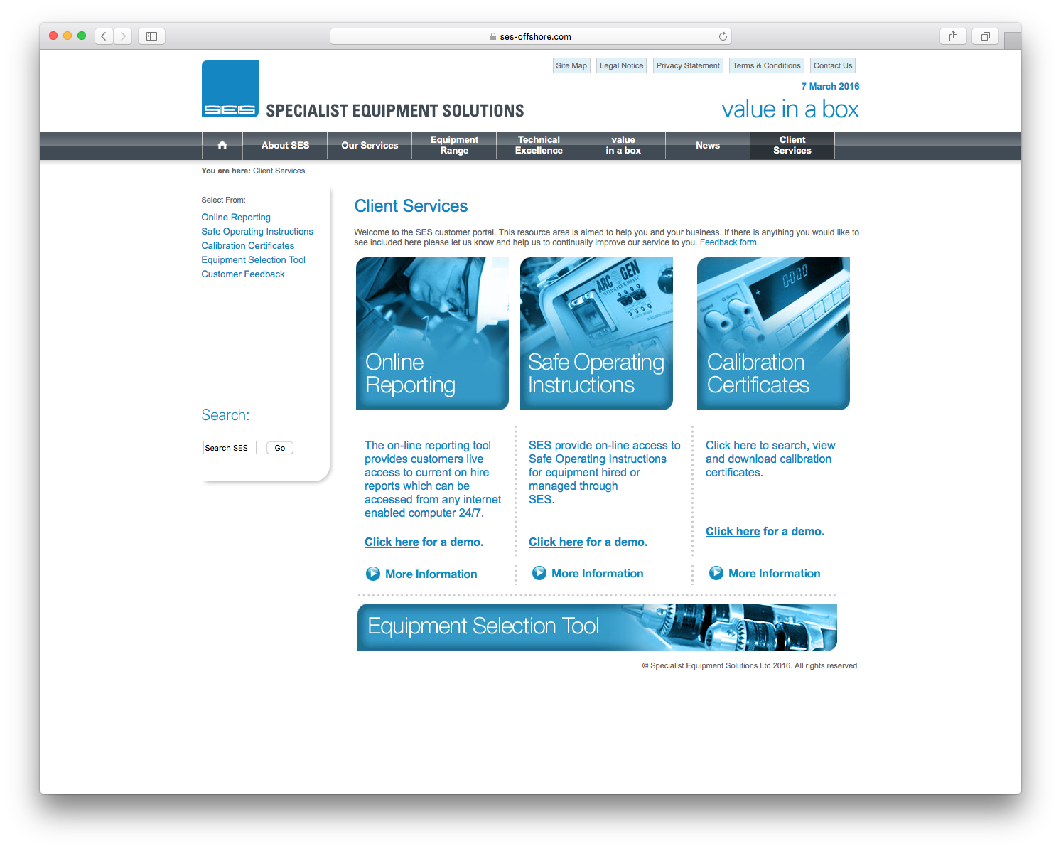CHP Graphic Design and website for equipment Hire ordering