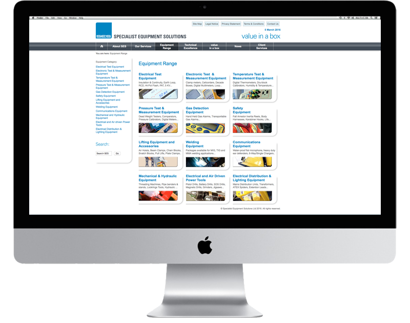 CHP Design Agency, Online Branding and Website for SES Offshore