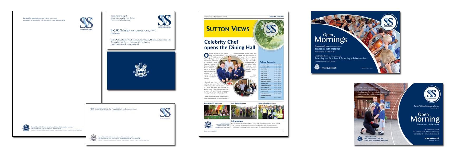 Sutton Valence School Stationery, Newsletter & ads – independent school branding – CHP Design