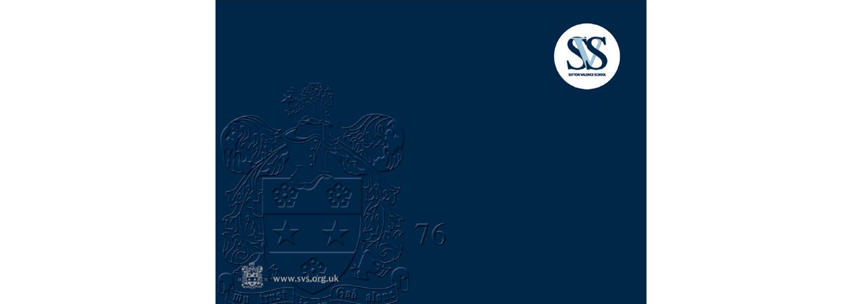 Sutton Valence School Prospectus Cover Embossed – independent school branding – CHP Design