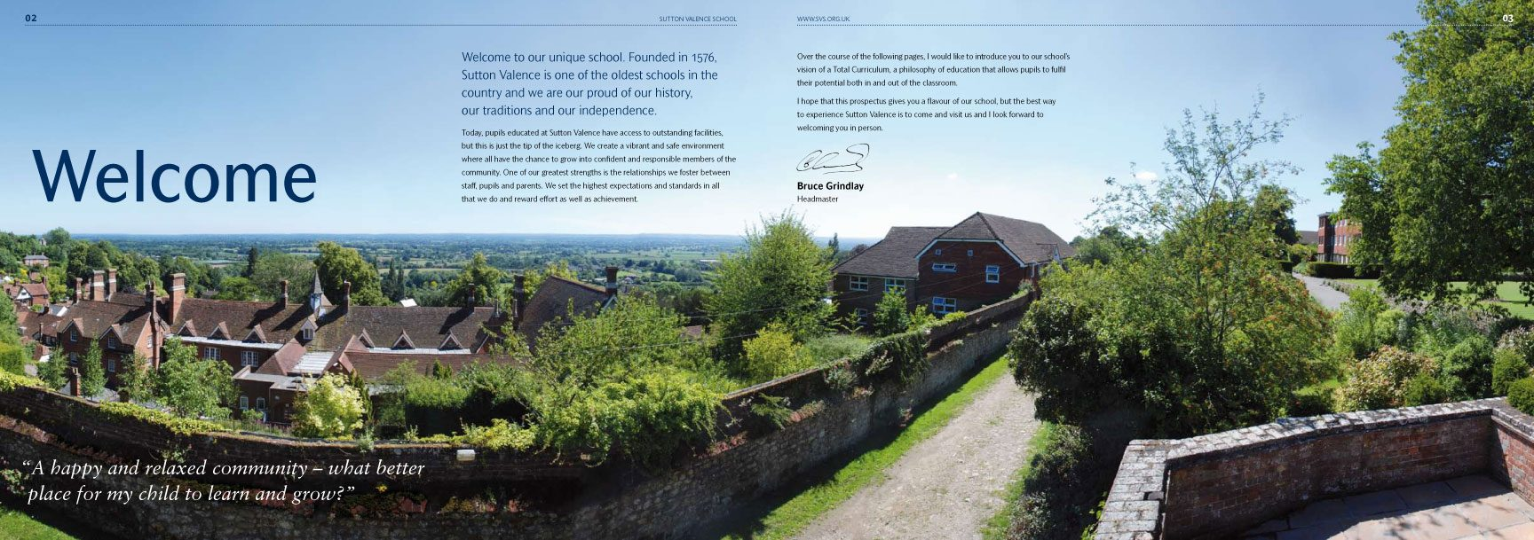 Sutton Valence School Prospectus – independent school branding – CHP Design