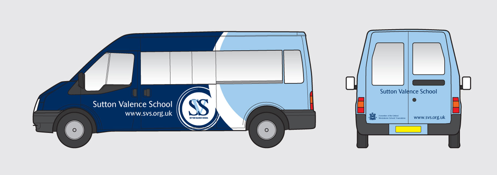 Sutton Valence School Vehicle Livery – independent school branding – CHP Design
